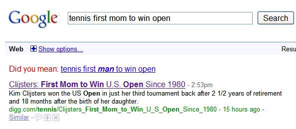 first mom to win tennis
