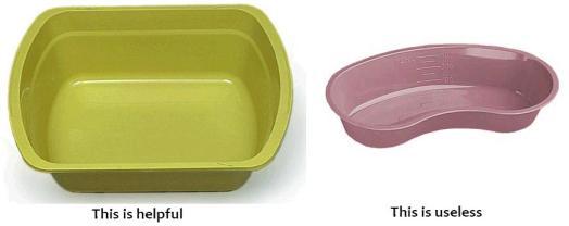 emesis basin and wash basin